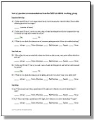 Attitudes survey ghsa for Attitude survey template