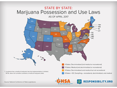 Marijuana Legalization Map
