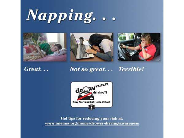 Maryland Drowsy Driving Campaign Image